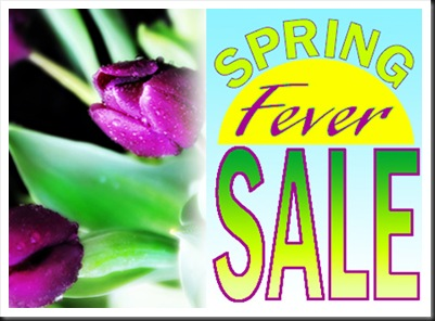 Spring Fever Sale for Blog
