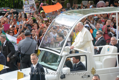 Pope Francis up close. Very cool.