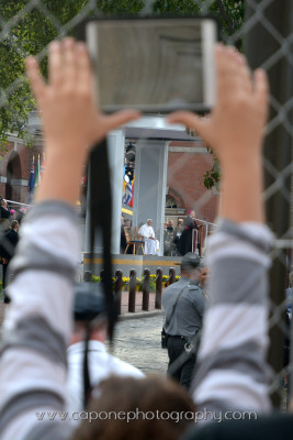 everyone wanted to get a photo of the pontiff