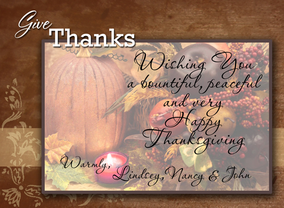 Happy Thanksgiving to our clients and frineds