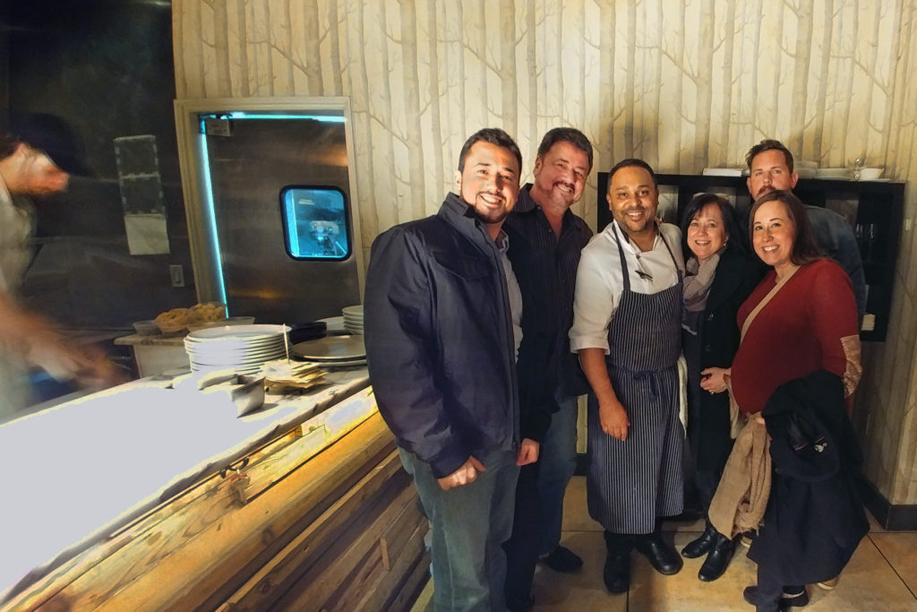 after a great meal with Top Chef Kevin Spraga